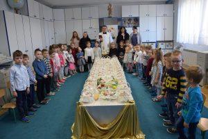 Przyśpieszone poświęcenie pokarmów wprzedszkolu wJarosławiu