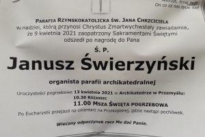 Pożegnanie śp.Janusza Świerzyńskiego
